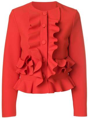 MSGM ruffle fitted jacket
