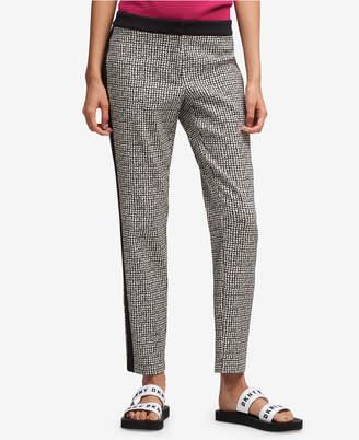 DKNY Tuxedo-Stripe Skinny Pants, Created for Macy's