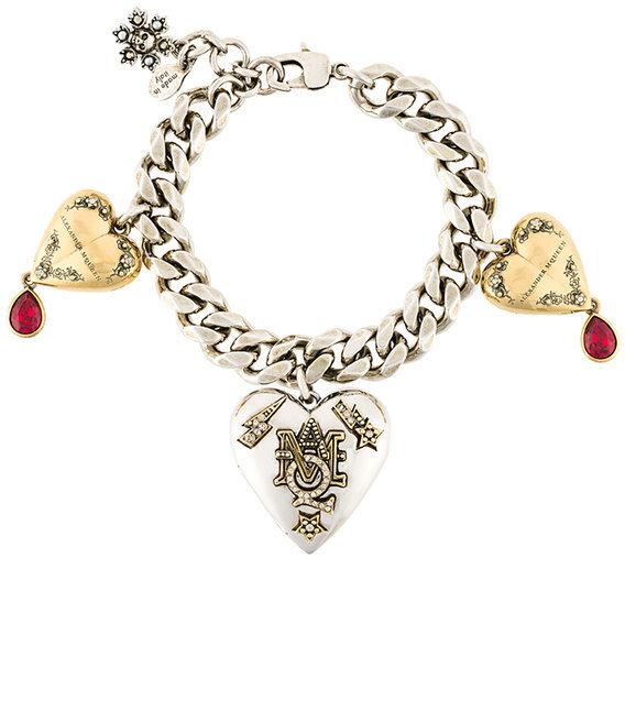 Alexander McQueenAlexander McQueen heart locket charm bracelet