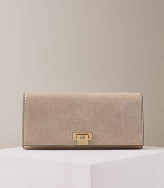Reiss Our last order date for Christmas has now passed AUDLEY LEATHER CLUTCH BAG Metallic