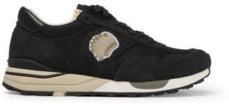 Visvim Roland Suede and Mesh Sneakers - Men - Black
