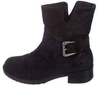Donald J Pliner Suede Round-Toe Ankle Boots