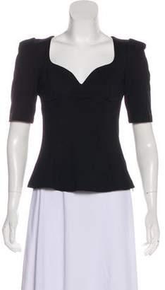 Rebecca Minkoff Sweetheart Short Sleeve Top