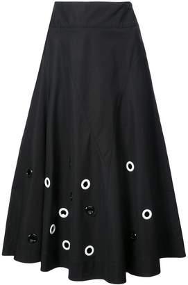 Derek Lam Embroidered Flare Skirt