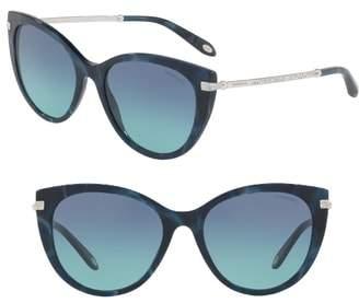 Tiffany & Co. 55mm Gradient Cat Eye Sunglasses