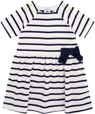 Petit Bateau Striped Bow Dress