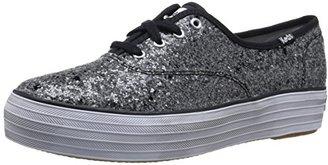 Keds Women's Triple Glitter Fashion Sneaker $65 thestylecure.com
