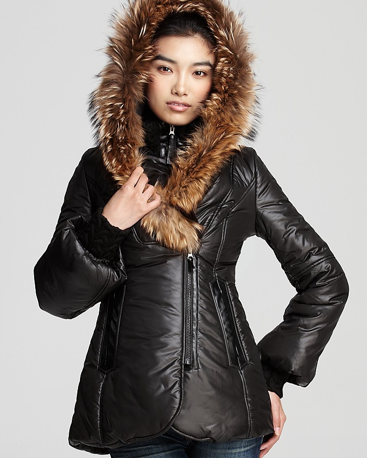Mackage Peaches Shiny Puffer Coat with Bell Sleeves