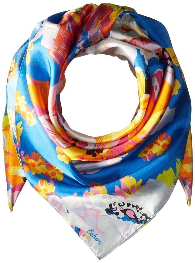 Echo Design - Floral Silk Square Scarf Scarves