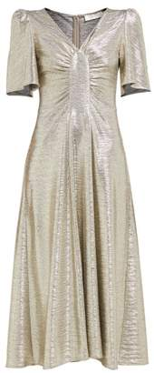Goat Rosemary Foil Jersey Tea Dress - Womens - Silver