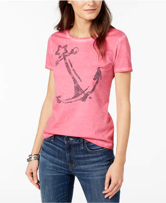 Tommy Hilfiger Cotton Anchor-Print T-Shirt, Created for Macy's