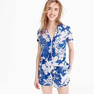 J.Crew Short sleeve pajama top in blue floral