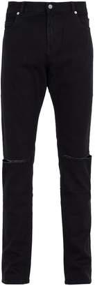 Balmain Distressed mid-rise jeans