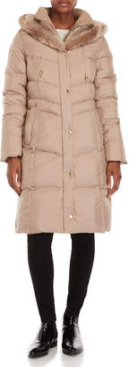 Cole Haan Sand Hooded Down Longline Coat