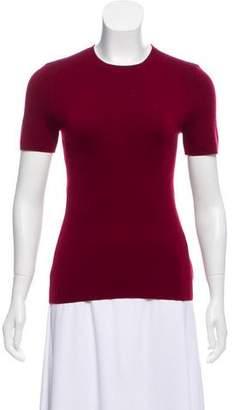 Michael Kors Short Sleeve Cashmere Top