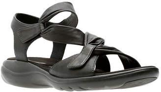 215ae89b5f7f Clarks Black Heel Strap Women s Sandals - ShopStyle