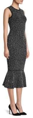 Michael Kors Embellished Midi Trumpet Dress