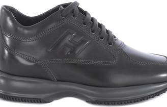 Hogan Mid-cut Leather Sneakers