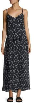Vince Calico Floral-Print Silk Maxi Dress