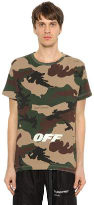 Off-White Oversized Off White Camo Jersey T-Shirt