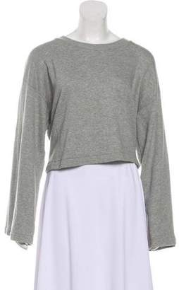 Alexander Wang Long Sleeve Crop Sweatshirt