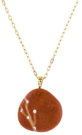 CVC Stones Diamond & Stone Pendant Necklace