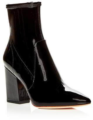 Loeffler Randall Women's Isla Patent Leather Block-Heel Booties