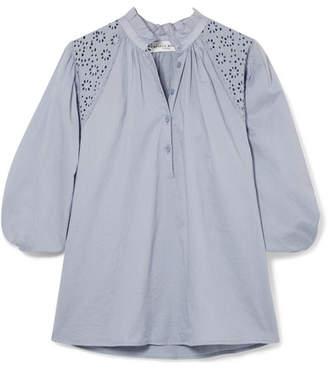 Apiece Apart Vera Broderie Anglaise Cotton-voile Blouse