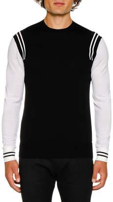 Neil Barrett Men's Wool Varsity Jumper Sweater