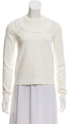 Valentino Lace-Trimmed Crew Neck Top