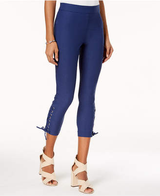 XOXO Lace-Up Cropped Skinny Pants