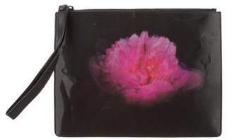 Christopher Kane Lenticular Blooming Peony Clutch