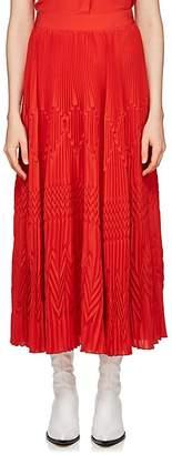 Givenchy Women's Pleated Silk-Blend Crêpe De Chine Midi-Skirt