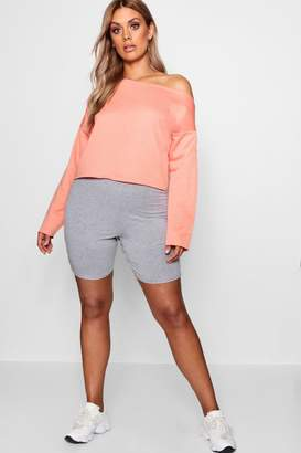 boohoo Plus Off The Shoulder Sweat Top