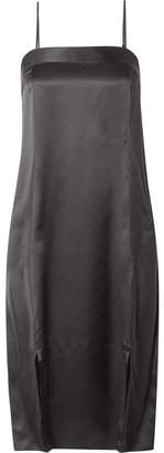 Equipment Kelby Silk-satin Midi Dress - Black