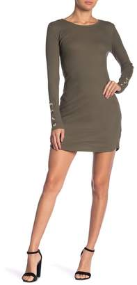 Planet Gold Long Sleeve Scoop Neck Dress
