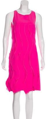 Bottega Veneta Sleeveless Ruffle-Accented Dress