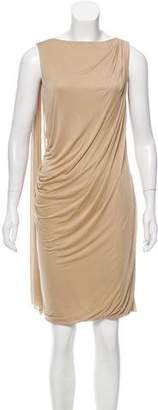 Versace Draped Knee-Length Dress w/ Tags