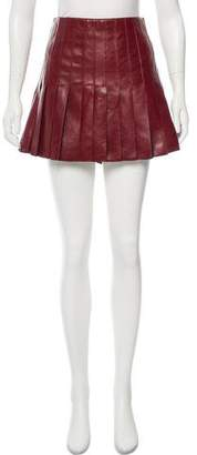 Belstaff Pleated Leather Skirt