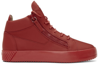 Giuseppe Zanotti Red July High-Top Sneakers