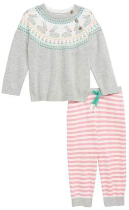 Boden Mini Fun Fair Isle Knit Sweater & Pants Set
