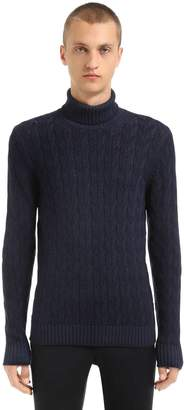 Tagliatore Wool Knit Turtleneck Sweater