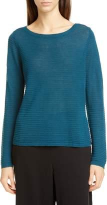 Eileen Fisher Bateau Neck Organic Linen & Cotton Sweater