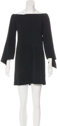 Tibi Long Sleeve Off-The-Shoulder Dress