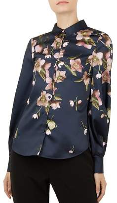 Ted Baker Laniie Arboretum Bishop-Sleeve Shirt
