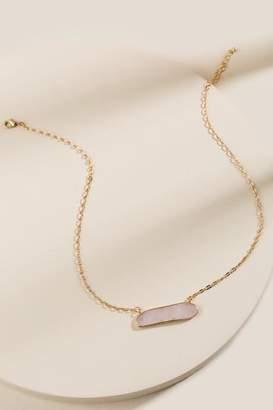 francesca's Katherine Semi-Precious Stone Pendant Necklace - Pale Pink