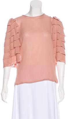 Jenni Kayne Silk Crew Neck Top