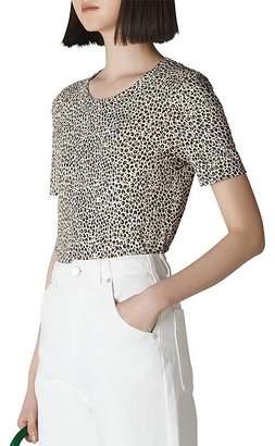 Whistles Rosa Leopard-Print Tee