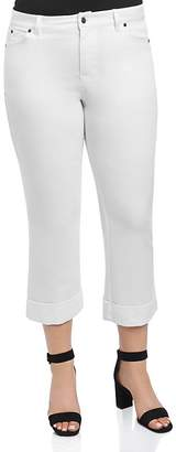 Foxcroft Plus Cropped Jeans in White