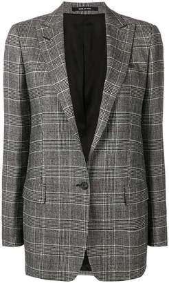 Tagliatore checked fitted jacket